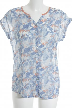 Mustang Kurzarm-Bluse florales Muster Casual-Look