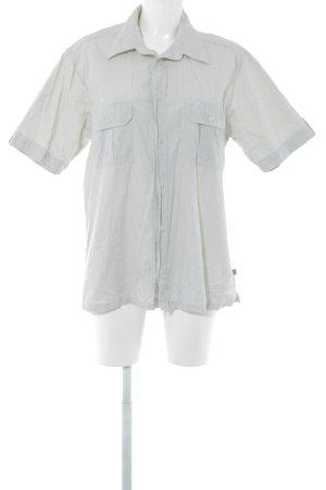 Mustang Camisa de manga corta beige claro-blanco Patrón de tejido