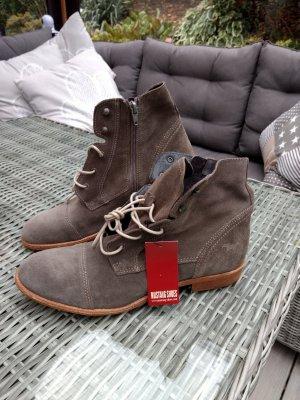 Mustang Shoes Botas con cordones caqui Cuero