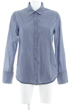 Mustang Langarmhemd kornblumenblau-stahlblau Punktemuster Business-Look