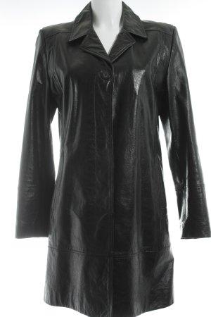 Mustang Leren jas zwart wetlook