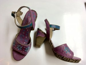 Mustang Strapped High-Heeled Sandals lilac-cadet blue