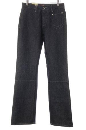 Mustang Pantalon pattes d'éléphant bleu foncé moucheté style mode des rues