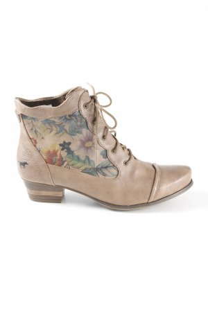Mustang Lace-up Booties flower pattern country style