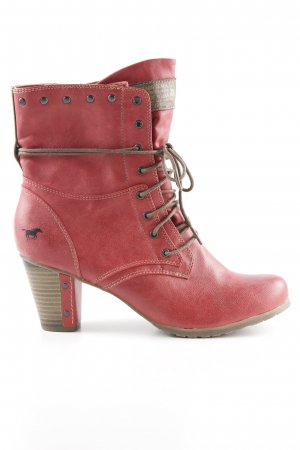 Mustang Lace-up Booties red extravagant style