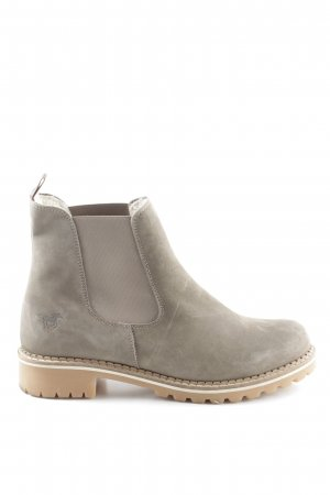 Mustang Shoes Chelsea Boots grey brown-taupe casual look