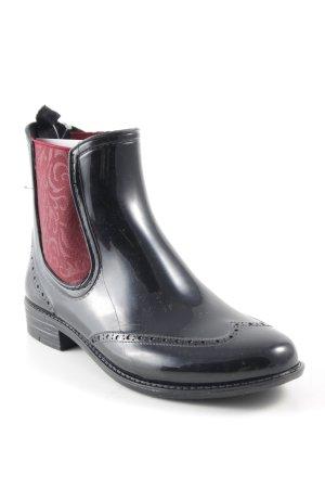 Mustang Shoes Chelsea laarzen zwart-bordeaux casual uitstraling