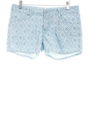 Mustang Shorts türkis-grau abstraktes Muster Beach-Look