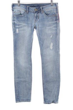 Mustang Skinny Jeans blassblau Destroy-Optik