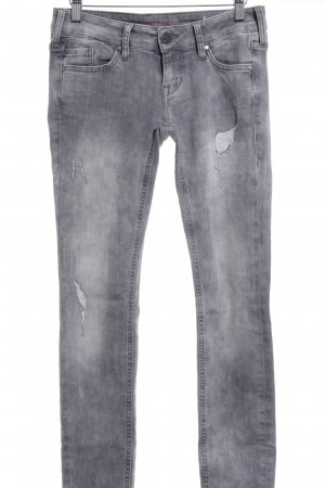 Mustang Skinny jeans grijs casual uitstraling