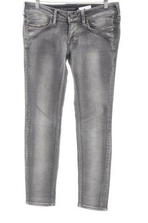 Mustang Skinny Jeans hellgrau-grau Jeans-Optik