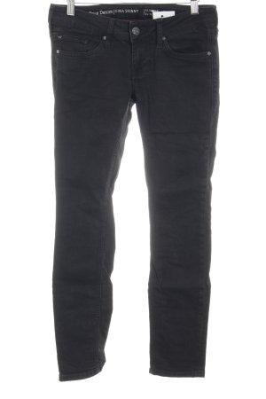 Mustang Skinny Jeans schwarz College-Look