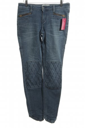 Mustang Slim Jeans neonblau Steppmuster Casual-Look