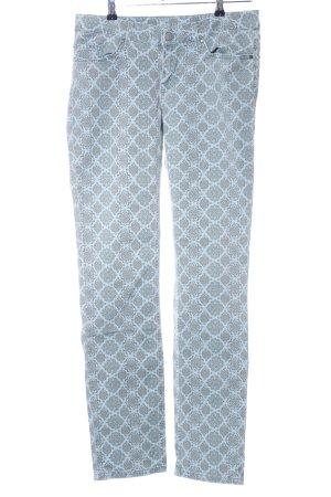 Mustang Slim Jeans türkis-hellgrau abstraktes Muster Casual-Look