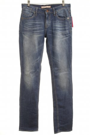 Mustang Slim Jeans blau Street-Fashion-Look