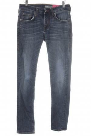 Mustang Jeans slim fit blu acciaio puntinato stile casual