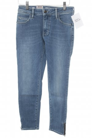 Mustang Slim Jeans stahlblau Street-Fashion-Look