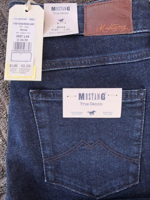 Mustang Five-Pocket Trousers dark blue cotton