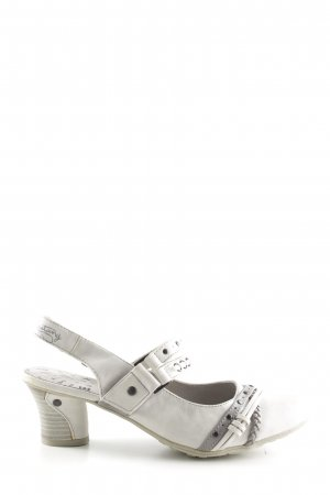 Mustang Slingback Pumps light grey-white casual look