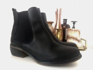 Mustang Shoes Chelsea laarzen zwart Leer