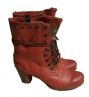 Mustang Platform Booties dark red