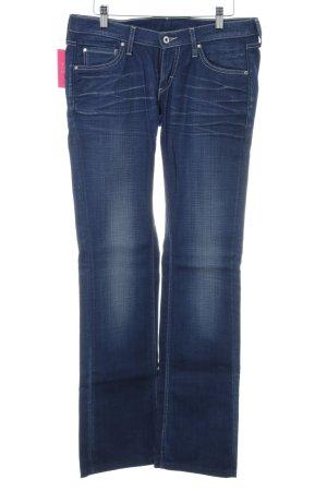 Mustang Straight-Leg Jeans neonblau Jeans-Optik