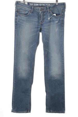 Mustang Straight-Leg Jeans blau Jeans-Optik
