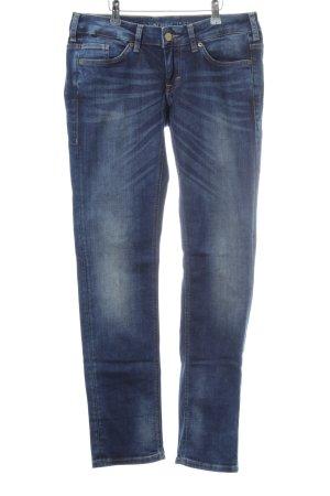 Mustang Straight-Leg Jeans blau Washed-Optik