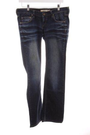 Mustang Straight-Leg Jeans dunkelblau-stahlblau Casual-Look