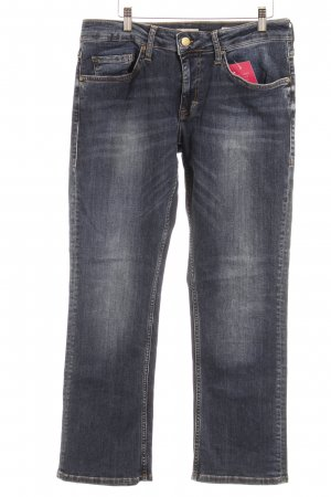 Mustang Straight-Leg Jeans dunkelblau Washed-Optik