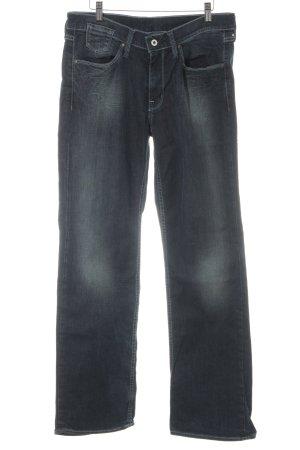 Mustang Straight-Leg Jeans dunkelblau Washed-Optik