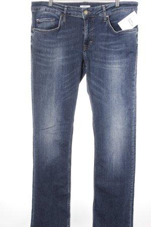 Mustang Straight-Leg Jeans dunkelblau-wollweiß meliert Casual-Look