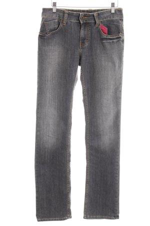 Mustang Straight-Leg Jeans grau-hellgrau Farbverlauf Casual-Look