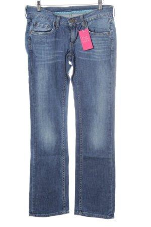 Mustang Straight-Leg Jeans graublau Jeans-Optik