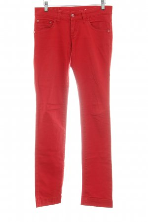 Mustang Straight-Leg Jeans rot Casual-Look