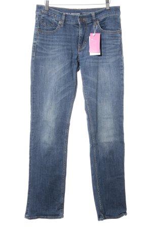 Mustang Jeans met rechte pijpen staalblauw casual uitstraling