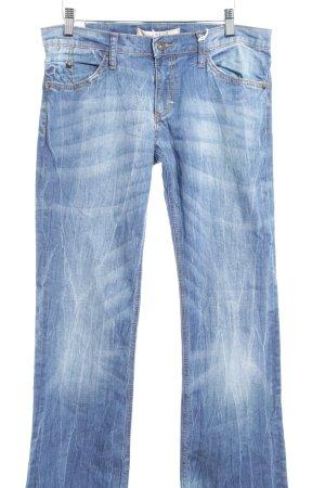 Mustang Straight-Leg Jeans stahlblau-hellbeige Casual-Look
