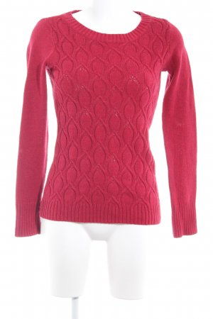 Mustang Strickpullover dunkelrot Casual-Look