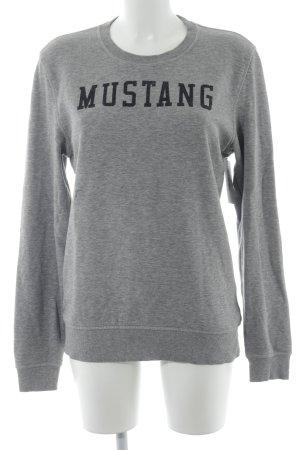 Mustang Sweatshirt grau meliert Casual-Look