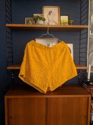 Mustard Yellow Laze shorts