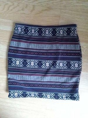 Amisu Mini-jupe multicolore coton