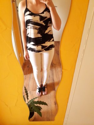 Muster Top schwarz creme Gr. 36
