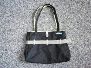 Mustermädels Tasche aus Filz und Stoff schwarz/weiß/grün/lila/grau