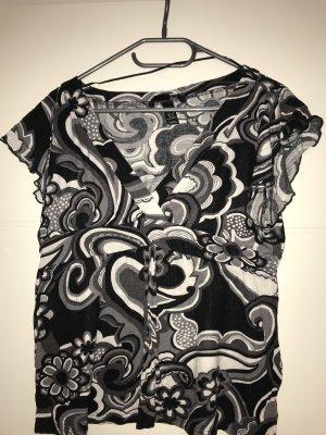 H&M Camiseta estampada negro-blanco