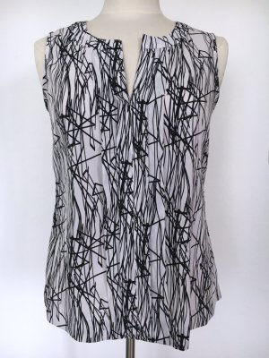 Calvin Klein Blouse topje wit-zwart