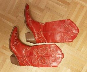 Pinko Stivale western rosso