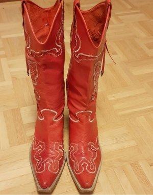 Pinko Western Laarzen rood