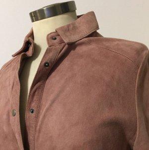 Muubaa Leather Shirt rose-gold-coloured