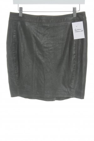 Muubaa Leather Skirt green grey casual look