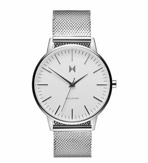 MVMT Watch With Metal Strap silver-colored